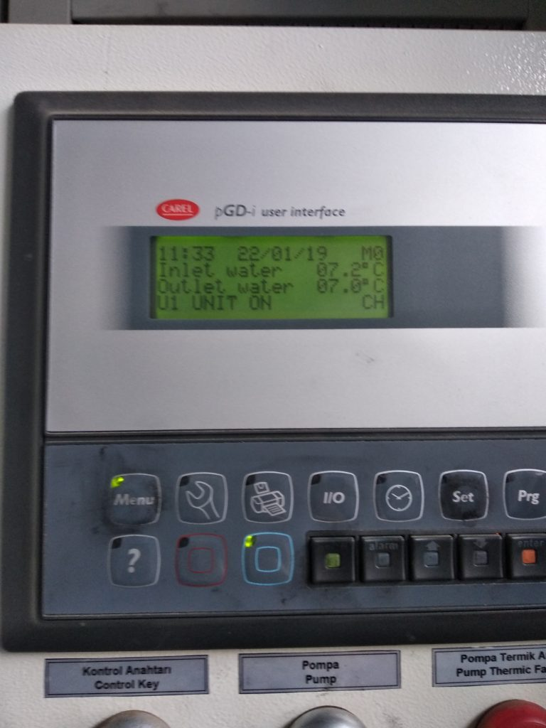 Программирование контроллера чиллира Ангара
