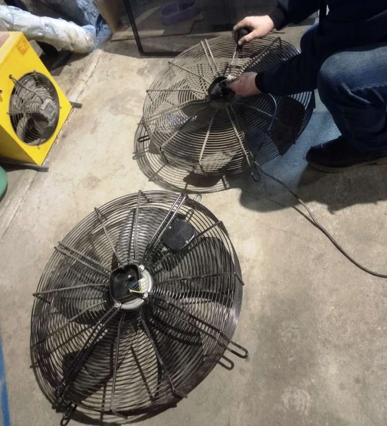 замена вентилятора на чиллере
